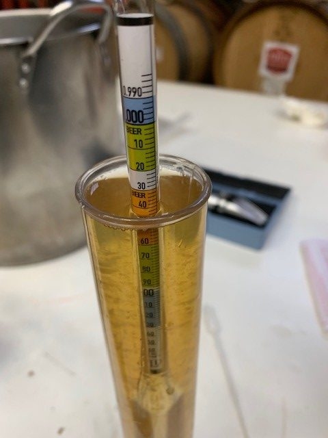 Measuring specific gravity